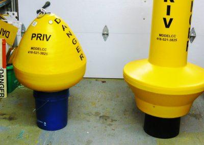 Privé_Pictogramme_bouée jaune DANGER et champignon jaune